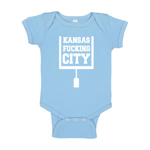 Baby Onesie Kansas Fucking City 100% Cotton Infant Bodysuit