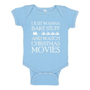 Baby Onesie Bake Stuff, Christmas Movies 100% Cotton Infant Bodysuit
