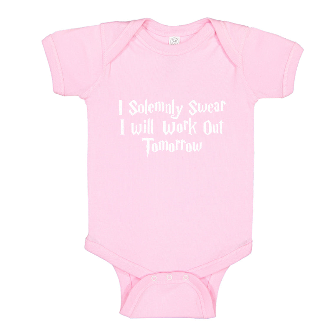 2cb2b894c ... Baby Onesie Solemnly Swear to Work Out 100% Cotton Infant Bodysuit