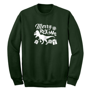 Merry Rex-Mas Unisex Adult Sweatshirt