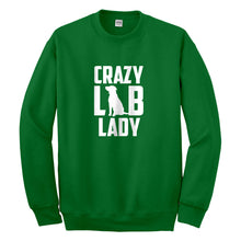 Crewneck Crazy Lab Lady Unisex Sweatshirt