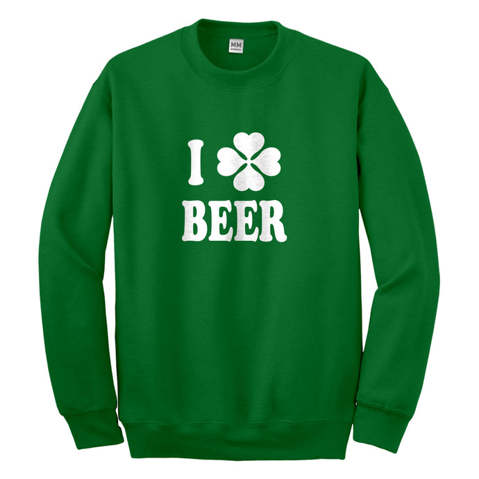 Crewneck I Love Beer Unisex Sweatshirt