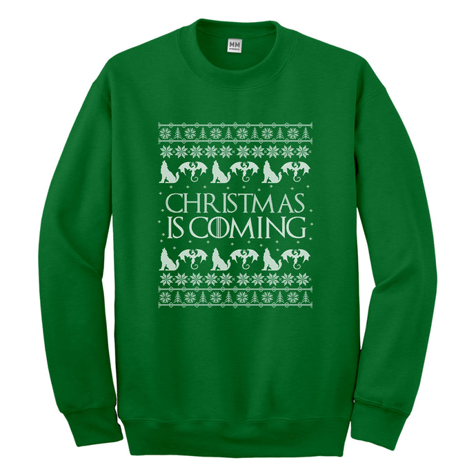 Crewneck Christmas is Coming Unisex Sweatshirt