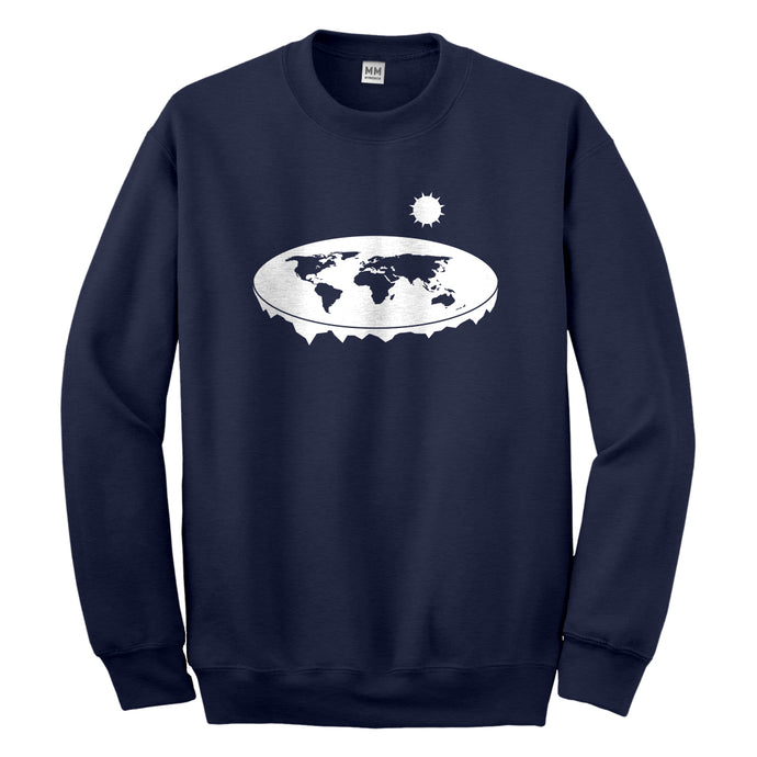 Crewneck Flat Earth Unisex Sweatshirt