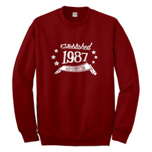 Crewneck Established 1987 Unisex Sweatshirt