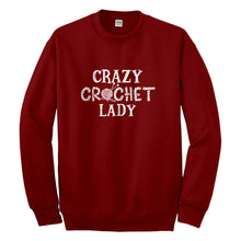 Crewneck Crazy Crochet Lady Unisex Sweatshirt