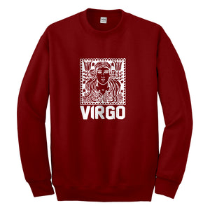 Crewneck Virgo Zodiac Astrology Unisex Sweatshirt