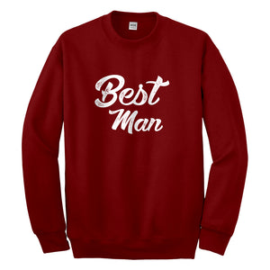 Crewneck Best Man Unisex Sweatshirt
