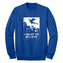 I Want to Believe Fire Dragon Unisex Adult Sweatshirt