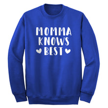 Crewneck Momma Knows Best Unisex Sweatshirt