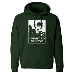 I Want to Believe Flying Spaghetti Monster Unisex Adult Hoodie