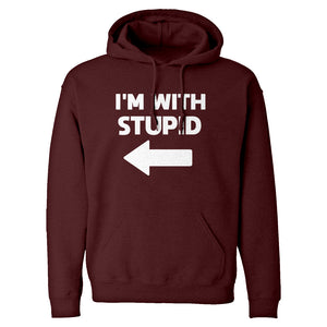 I'm With Stupid Left Unisex Adult Hoodie