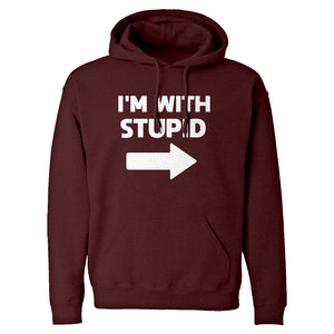 I'm With Stupid Right Unisex Adult Hoodie