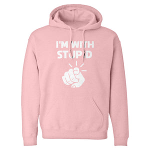 I'm With Stupid You Unisex Adult Hoodie