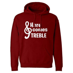 Here Comes Treble Unisex Adult Hoodie