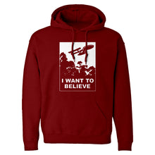 I Want to Believe Space Ship Unisex Adult Hoodie