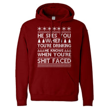 Hoodie He Sees Your When You're Drinking Unisex Adult Hoodie