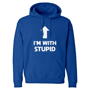 I'm with Stupid Up Unisex Adult Hoodie