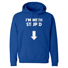 I'm with Stupid Down Unisex Adult Hoodie