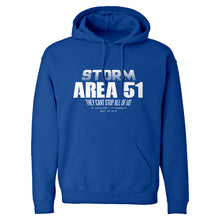 Storm Area 51 They Can't Stop Us All Unisex Adult Hoodie