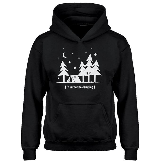 Youth I'd Rather be Camping Kids Hoodie