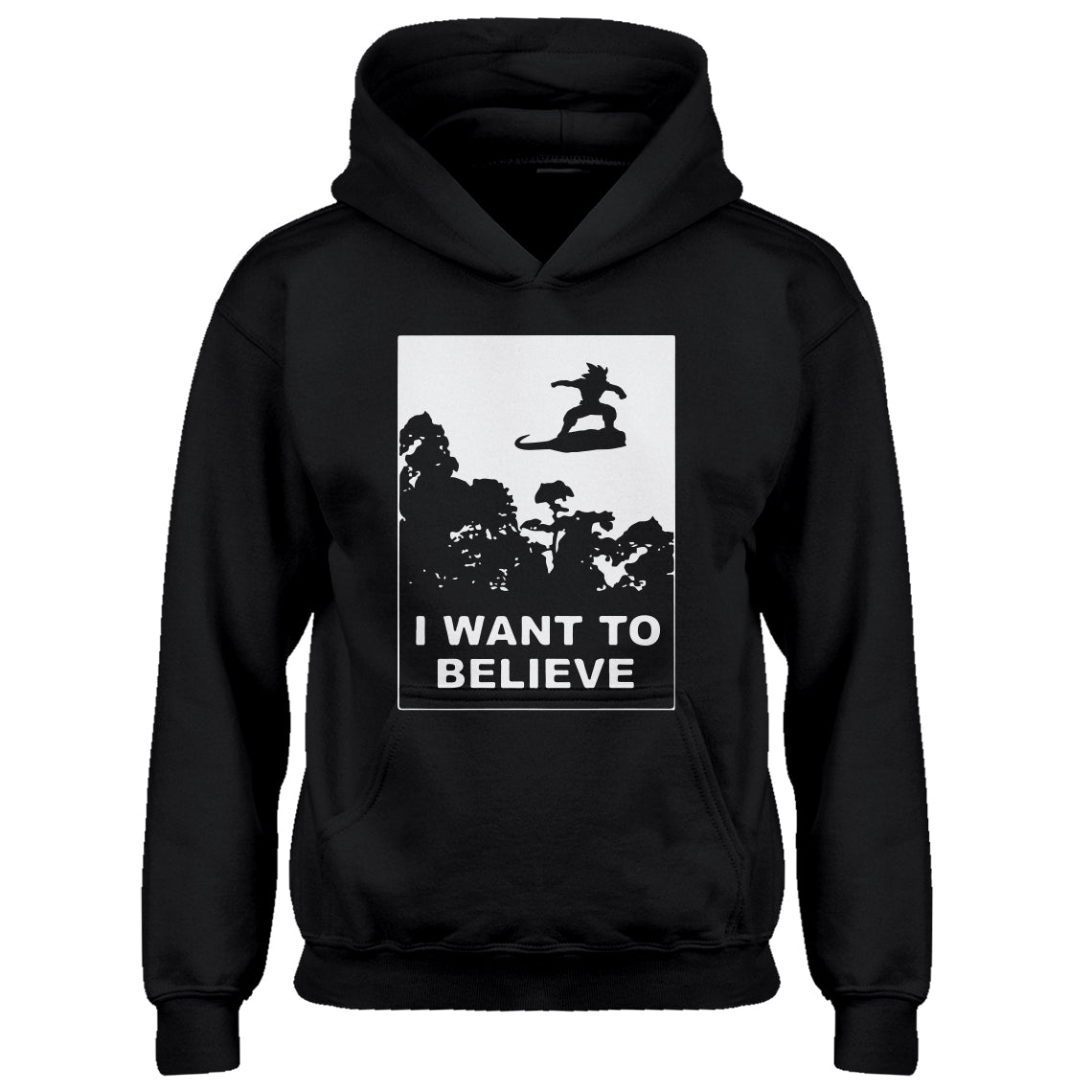 Youth I Want to Believe Nimbus Fighter Kids Hoodie
