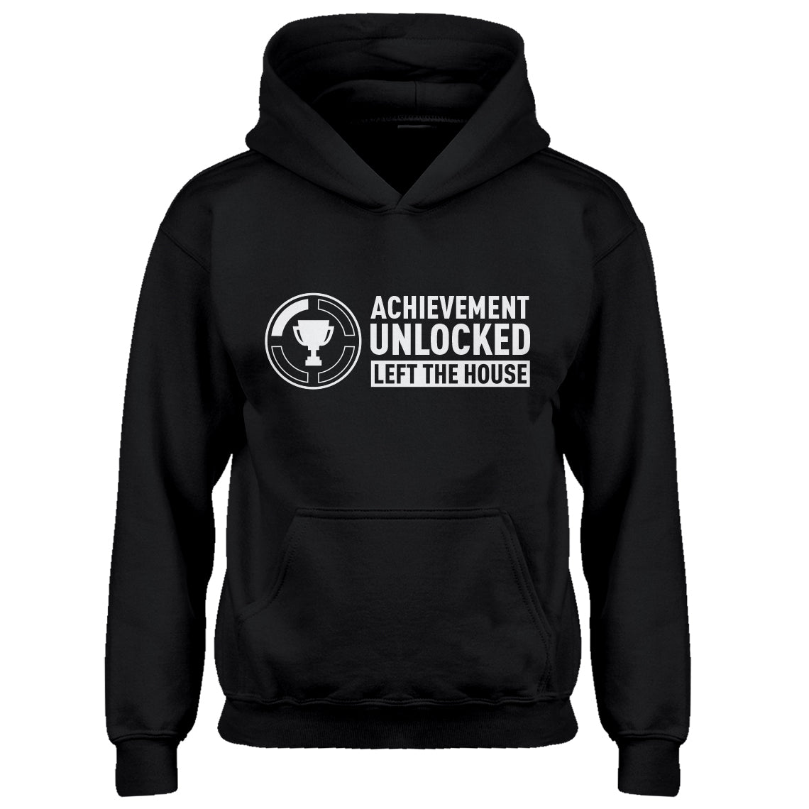 Youth Achievement Unlocked Left The House Kids Hoodie
