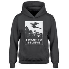 Youth I Want to Believe Fire Dragon Kids Hoodie