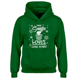 Youth This Santa Loves Going Down Kids Hoodie