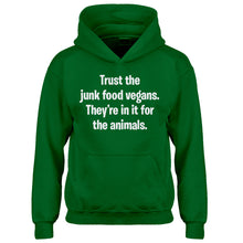 Youth Junk Food Vegans Kids Hoodie