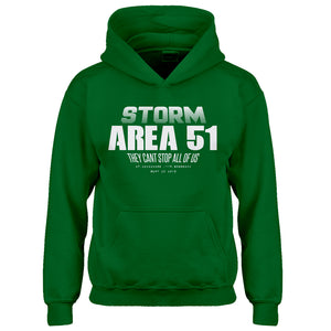 Youth Storm Area 51 They Can't Stop Us All Kids Hoodie
