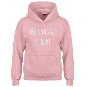 Youth The Snuggle is Real Kids Hoodie