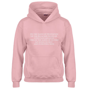 Hoodie On the Sands of Hesitation Kids Hoodie