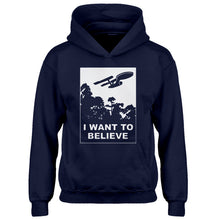 Youth I Want to Believe Space Ship Kids Hoodie