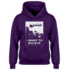 Youth I Want to Believe Santa Kids Hoodie