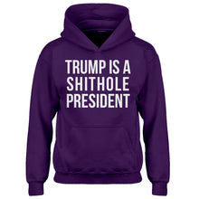 Hoodie Trump is a Shithole President Kids Hoodie