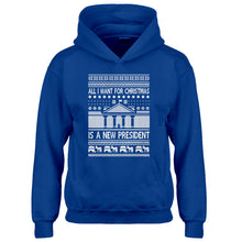 Hoodie All I Want for Christmas is a New President Kids Hoodie