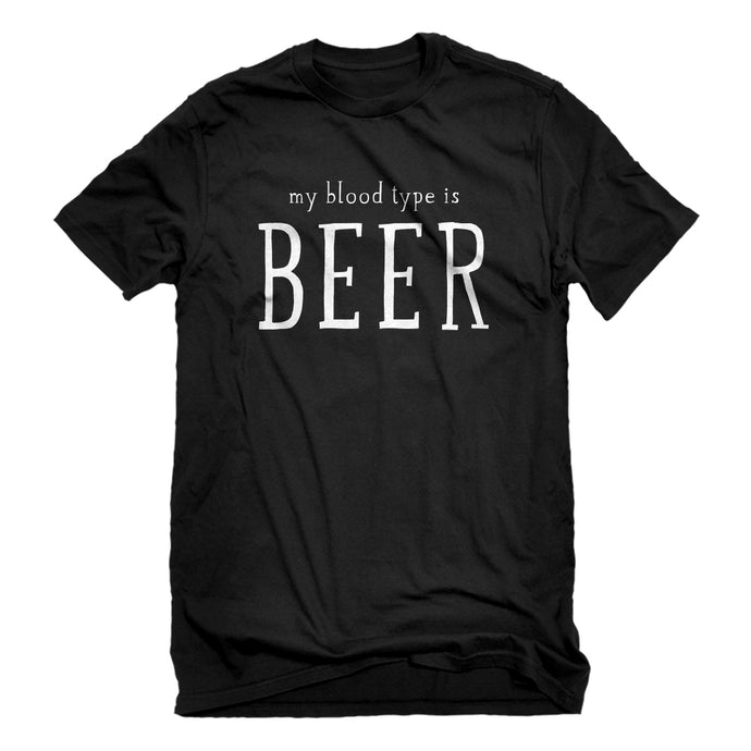 Mens My Blood Type is Beer Unisex T-shirt