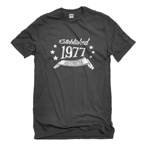 Mens Established 1977 Unisex T-shirt