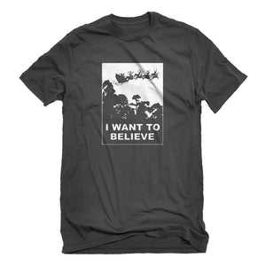 Mens I Want to Believe Santa Unisex T-shirt