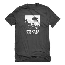 Mens I Want to Believe Flying Spaghetti Monster Unisex T-shirt
