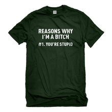 Mens Reasons Why You're Stupid Unisex T-shirt