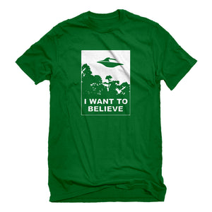 Mens I Want to Believe Unisex T-shirt