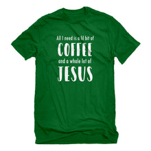 Mens Lil Bit Coffee Whole Lotta Jesus Unisex T-shirt