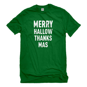 Mens Merry Hallow Thanks Mas Unisex T-shirt