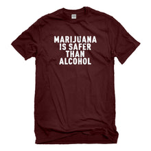 Mens Marijuana is Safer Unisex T-shirt
