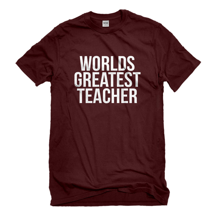 Mens Worlds Greatest Teacher Unisex T-shirt