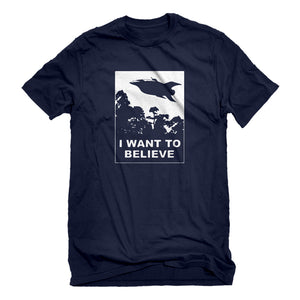Mens I Want to Believe Planet Express Unisex T-shirt