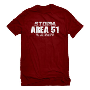 Mens Storm Area 51 They Can't Stop Us All Unisex T-shirt