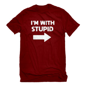 Mens I'm With Stupid Right Unisex T-shirt